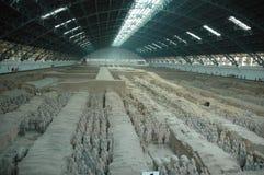 Sitio de la excavación del guerrero de la terracota Fotos de archivo libres de regalías