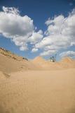 Sitio de la extracción de la arena Imagenes de archivo