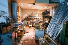 Sitio de la fábrica de Furnirure Imagen de archivo libre de regalías