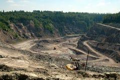 Sitio de la mina Foto de archivo libre de regalías