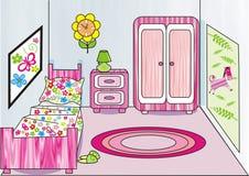 Sitio de la muchacha ilustración del vector