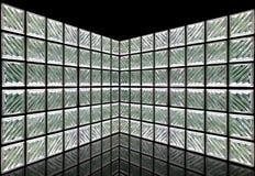 Sitio de la pared del bloque de cristal Imágenes de archivo libres de regalías