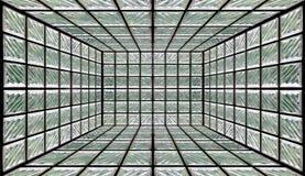 Sitio de la pared del bloque de cristal Foto de archivo libre de regalías