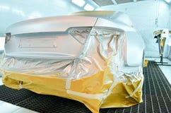 Sitio de la pintura del coche Imágenes de archivo libres de regalías