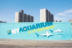 sitio de la reconstrucción del acuario de Nueva York Imagen de archivo