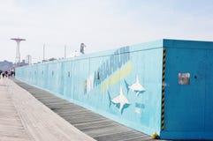 sitio de la reconstrucción del acuario de Nueva York Imagenes de archivo