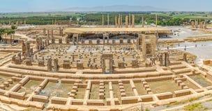 Sitio de la restauración de Persepolis Foto de archivo libre de regalías