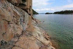 Sitio de la roca de Agawa Fotografía de archivo libre de regalías