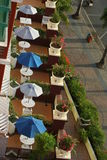 Sitio de la terraza del hotel Fotografía de archivo