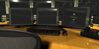 Sitio de la vigilancia de la seguridad Foto de archivo