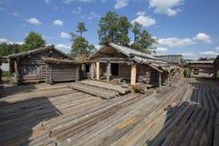 Sitio de la vivienda de lago Araisi Imagenes de archivo