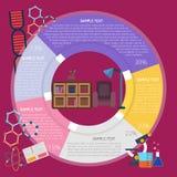 Sitio de lectura Infographic Fotografía de archivo libre de regalías