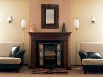 Sitio de lujo de la chimenea Fotografía de archivo libre de regalías