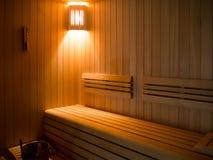Sitio de lujo de la sauna Imágenes de archivo libres de regalías