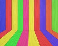 Sitio de madera colorido Imágenes de archivo libres de regalías