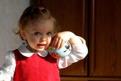 Sitio de niño asoleado Imagen de archivo