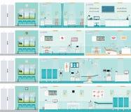 Sitio de operación médico de la cirugía del hospital ilustración del vector