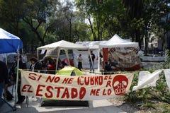Sitio de protesta Fotografía de archivo
