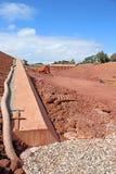 Sitio de puente de la construcción de carreteras fotografía de archivo libre de regalías
