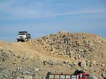 Sitio de reciclaje concreto de la construcción Foto de archivo