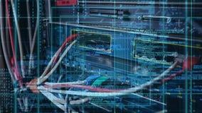 Sitio de servidor de datos con los cuadrados y los números