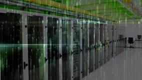 Sitio de servidor de datos contra luces animadas
