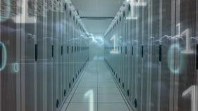 Sitio de servidor de datos y código de los números binarios