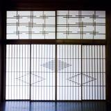 Sitio de Tatami y del Shoji, Japón Fotografía de archivo