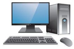 Sitio de trabajo de la computadora de escritorio Foto de archivo