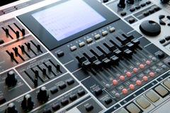 Sitio de trabajo profesional de la música Imagen de archivo
