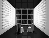 Sitio de TV negro Fotografía de archivo