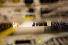 Sitio de Working In Server del técnico Imagenes de archivo