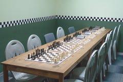 Sitio del ajedrez Foto de archivo libre de regalías