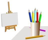 Sitio del artista ilustración del vector