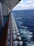 Sitio del balcón en el barco de cruceros Foto de archivo libre de regalías