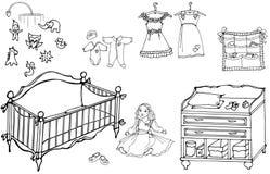 Sitio 1 del bebé ilustración del vector