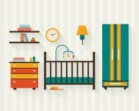 Sitio del bebé con muebles Imagen de archivo libre de regalías