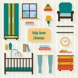 Sitio del bebé con muebles Fotografía de archivo libre de regalías