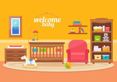 Sitio del bebé con muebles Fotografía de archivo