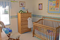 Sitio del bebé del dormitorio fotos de archivo