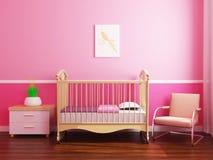 Sitio del bebé del ` s de la muchacha Fotos de archivo libres de regalías
