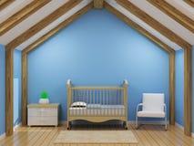 Sitio del bebé del ` s del muchacho Foto de archivo libre de regalías