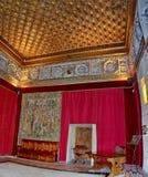 Sitio del castillo medieval imagenes de archivo