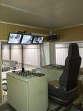 Sitio del control y de la supervisión en la serrería Foto de archivo libre de regalías