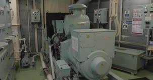 Sitio del generador de la emergencia almacen de metraje de vídeo
