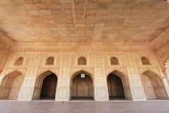 Sitio del mármol de la fortaleza de Agra Imágenes de archivo libres de regalías