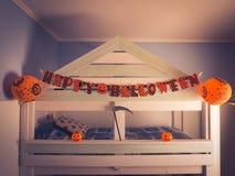 Sitio del niño adornado para el día de fiesta de Halloween Foto de archivo