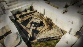 sitio del público del proyecto del hall de entrada Fotografía de archivo