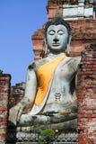 Sitio del patrimonio mundial de Ayutthaya Imagen de archivo libre de regalías
