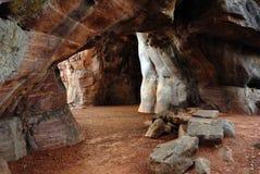 Sitio del patrimonio mundial de Bhimbetka- Foto de archivo